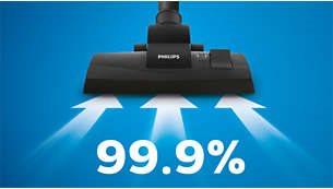 Απορρόφηση σκόνης 99,9%* για εξαιρετικά αποτελέσματα καθαρισμού