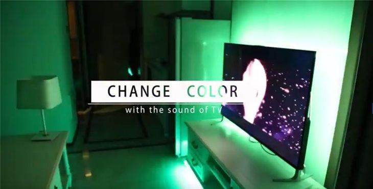 Υποστηρίζει 16 εκατομμύρια χρώματα και ρύθμιση φωτεινότητας.