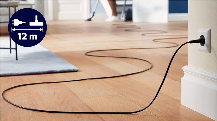 Η μεγάλη ακτίνα δράσης 12 μέτρων καλύπτει μεγαλύτερη απόσταση χωρίς αποσύνδεση από την πρίζα