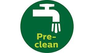 Η λειτουργία Pre-clean εξάγει ακόμα και τις τελευταίες σταγόνες χυμού