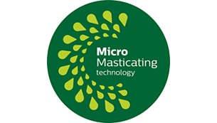 Με την τεχνολογία MicroMasticating εξάγει έως και το 90%* του φρούτου