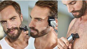 Τριμάρετε και δώστε στυλ στο πρόσωπό σας, τα μαλλιά και το σώμα με 14 εξαρτήματα