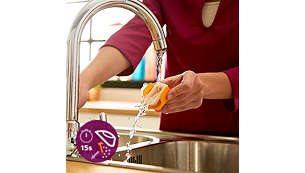 Σύστημα γρήγορης απομάκρυνσης αλάτων Quick calc release για εύκολο καθάρισμα του σίδερου