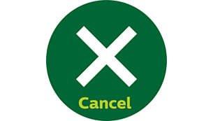 Κουμπί ακύρωσης για άμεση διακοπή λειτουργίας