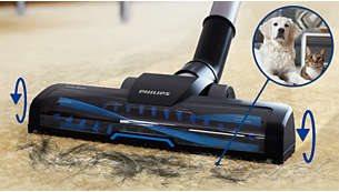 Βούρτσα Turbo, ιδανική για να καθαρίζει τις τρίχες και τα χνούδια κατοικιδίων