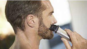 Ξυριστική μηχανή ακριβείας που τελειοποιεί τις άκρες σε μάγουλα, πηγούνι και λαιμό