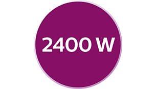 2400W ισχύς για γρήγορο ζέσταμακαι ισχυρή απόδοση