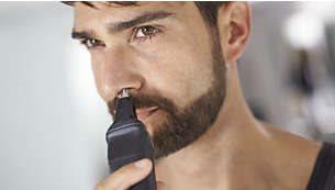 Το τρίμερ για μύτη αφαιρεί απαλά τις ανεπιθύμητες τρίχες της μύτης και των αυτιών