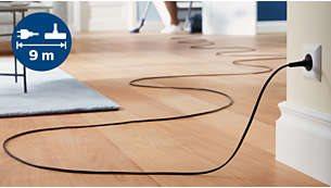Η μεγάλη ακτίνα δράσης 9 μέτρων καλύπτει μεγαλύτερη απόσταση χωρίς αποσύνδεση από την πρίζα