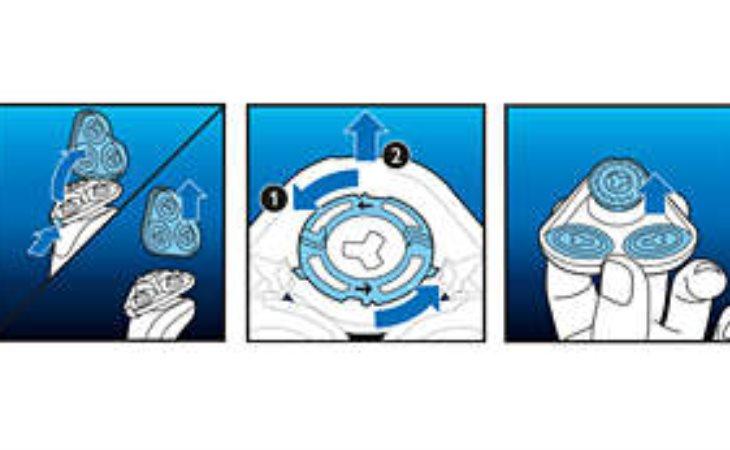 Ξυριστικές κεφαλές με εύκολη αντικατάσταση