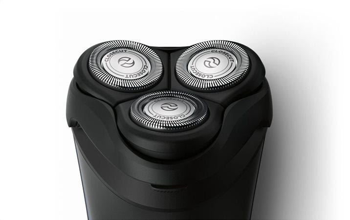 Εύκολο ξύρισμα σε κάθε καμπύλη με τις ευέλικτες κεφαλές 4 κατευθύνσεων