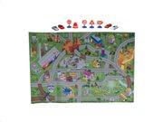 Eddy Toys Σετ Παιχνιδιού Πόλη Χαλάκι 80x120cm με 9 αντικείμενα, 01100