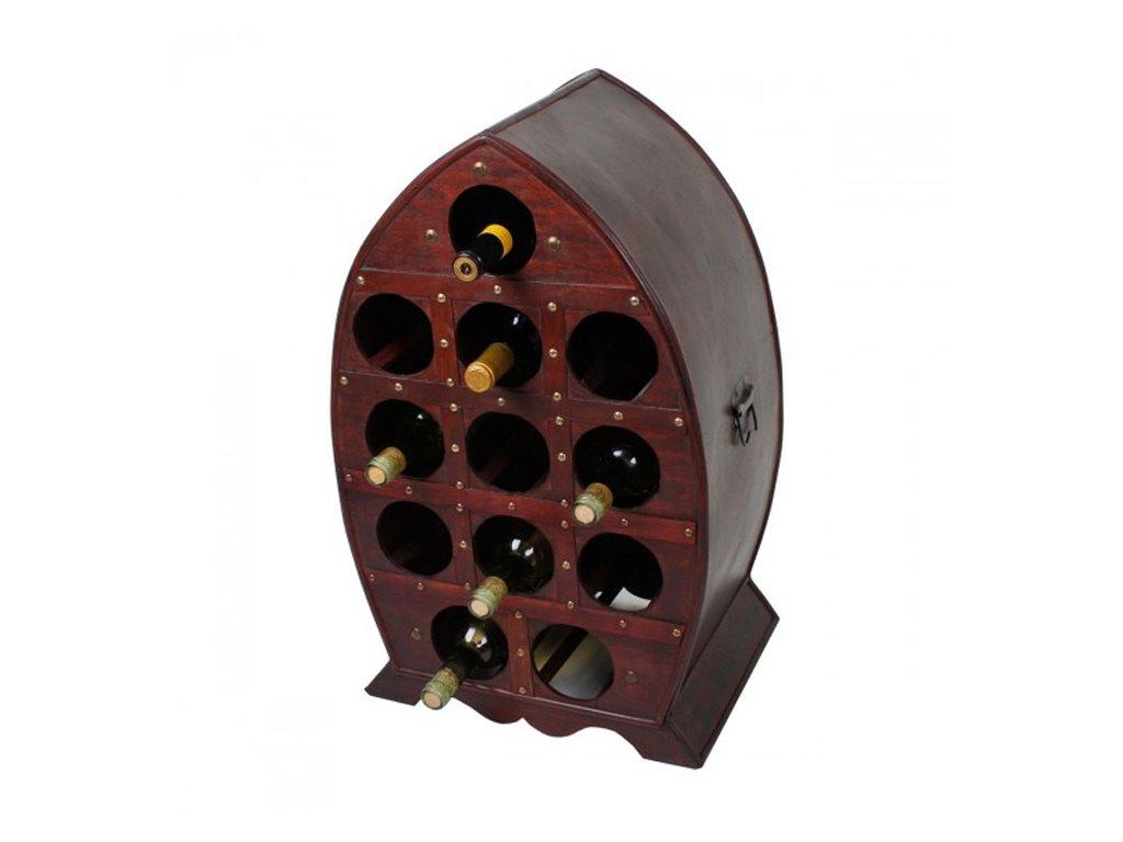Κάβα Κρασιών, Μπουκαλοθήκη Ξύλινο Έπιπλο 12 θέσεων σε vintage αναπαλαιωμένο σχέδιο, 41x65x30cm