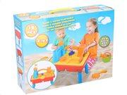 Παιδικό Τραπέζι 2 σε 1 για Άμμο και Νερό 15 τεμαχίων, 44.5x54x31.5cm, Eddy Toys 45610