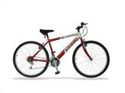 Ποδήλατο 26 ιντσών με 18 ταχύτητες σε Κόκκινο/Ασημί χρώμα, SOGO BIC-26SEO