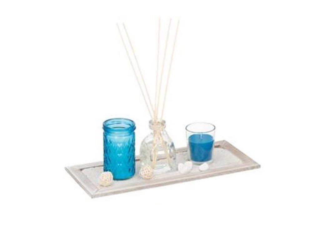 Σετ δώρου Αρωματικά Κεριά και Στικ 5 τεμαχίων, 33x15.5x8.5cm, Arti Casa 03062 Μπλε Ocean