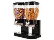 Διπλός Διανεμητής Δημητριακών σε Μαύρο χρώμα χωρητικότητας 500 γραμμαρίων, Cereal Dispenser