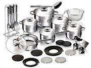Blaumann Σετ με μαγειρικά σκεύη και αξεσουάρ κουζίνας 32 τεμ,Gourmet Line, BL-3168Β