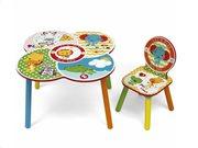 Fisher Price Σετ Ξύλινο Παιδικό Τραπεζάκι με Καρέκλα 60x60x52cm