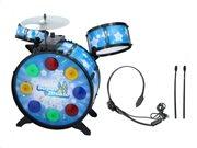 Eddy Toys Σετ Παιδικά Ηλεκτρικά Drums με μπαγκέτες και Ακουστικά σε μπλε χρώμα με διάμετρο 53 cm