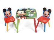 Ξύλινο Παιδικό Σετ Τραπεζάκι με 2 καρέκλες με θέμα Mickey Mouse, Table Set