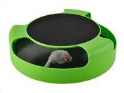 Aria Trade Παιχνίδι Κίνησης για Γάτες Catch the mouse σε πράσινο χρώμα, 25x6.5 cm