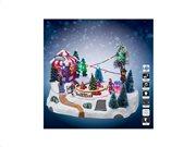 Χριστουγεννιάτικό διακοσμητικό Καρουζέλ με Led Φωτισμό, μουσική και κίνηση, 29x22x18 cm