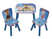 Aria Trade Σετ Ξύλινο Παιδικό Τραπεζάκι με Καρέκλες Paw Patrol