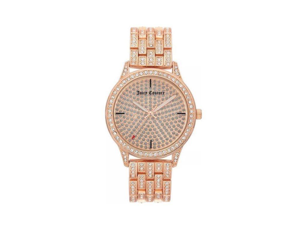 Juicy Couture Γυναικείο Ρολόι Αναλογικό, 38mm με μπρασελέ-κούμπωμα ασφαλείας, JC/1138PVRG