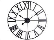 Αναλογικό Μεταλλικό Ρολόι Τοίχου διαμέτρου 47.5 cm σε μαύρο χρώμα, Wall clock