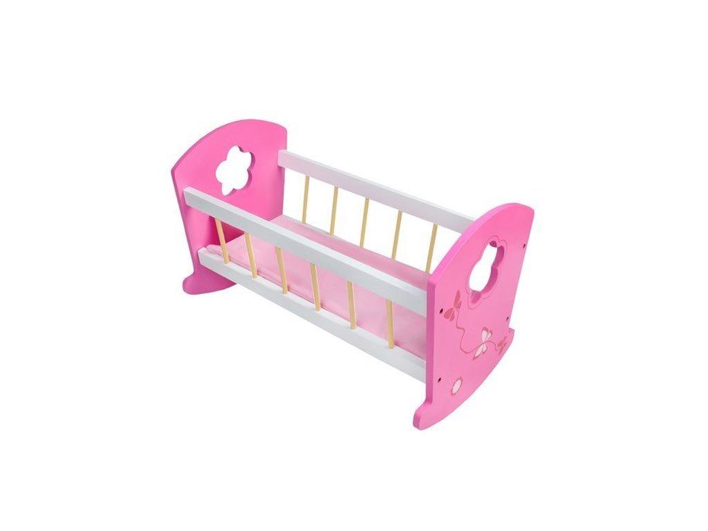 Παιδικό Παιχνίδι Ξύλινη Κούνια μωρού για κούκλες, 53x28x33 cm, Wooden doll cot