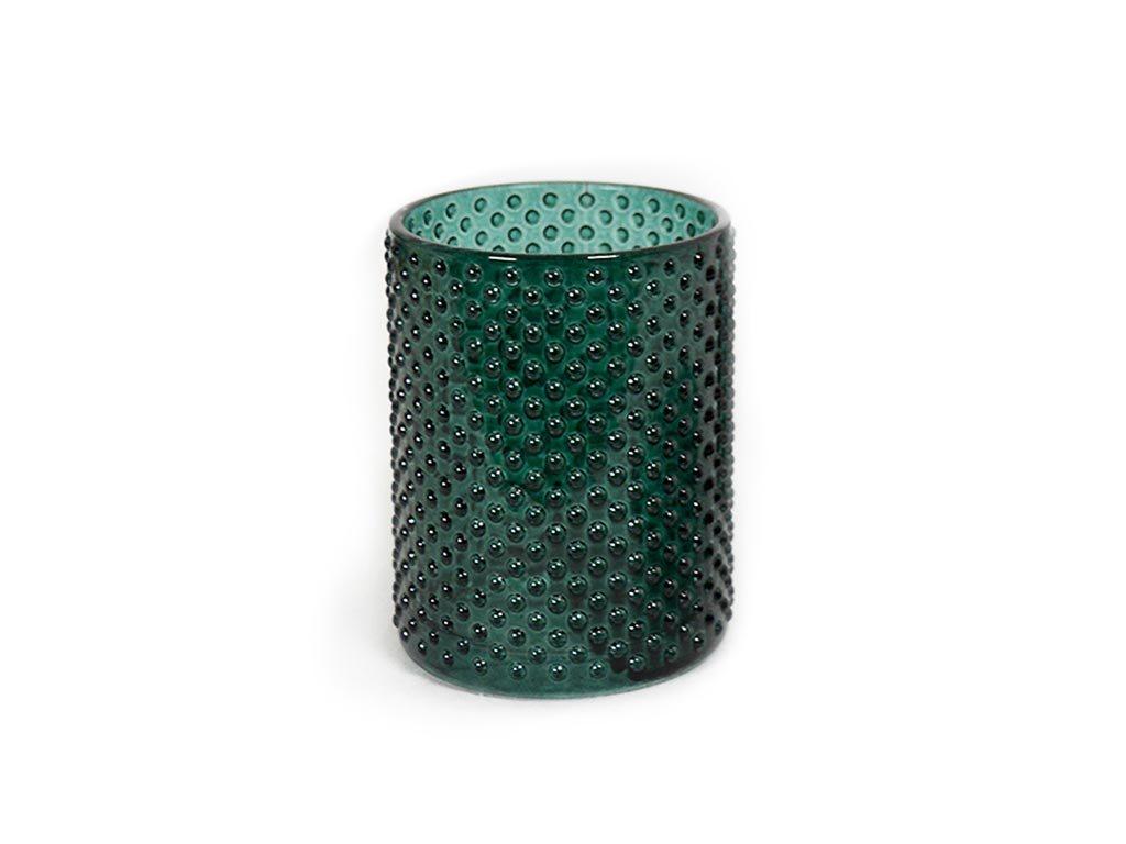 Δοχείο Μπάνιου για Οδοντόβουρτσες σε σκούρο πράσινο χρώμα, 7x10 cm, Tumbler