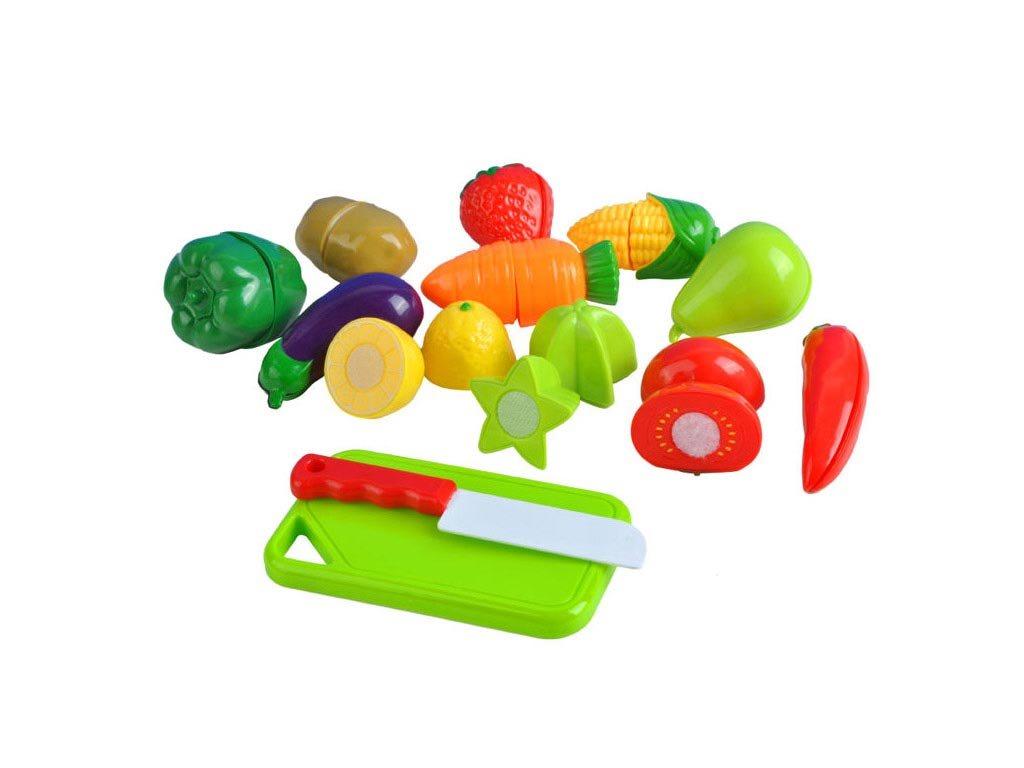 Σετ Παιχνίδι Φρούτα και Λαχανικά Διαίρεσης 14 τεμαχίων, Set Velcro Fruits and Vegetables