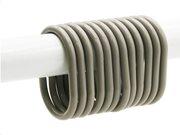 Σετ Κρίκοι Κουρτίνας Μπάνιου 12 τεμαχίων σε γκρι χρώμα, Shower Curtain Ring Set