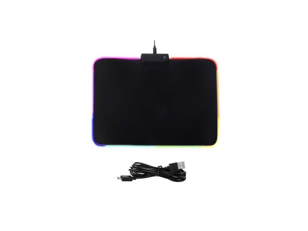 Αντιολισθητικό Μαξιλαράκι για το Ποντίκι Gaming Mousepad με περιμετρικό LED φωτισμό, 35x25.5cm