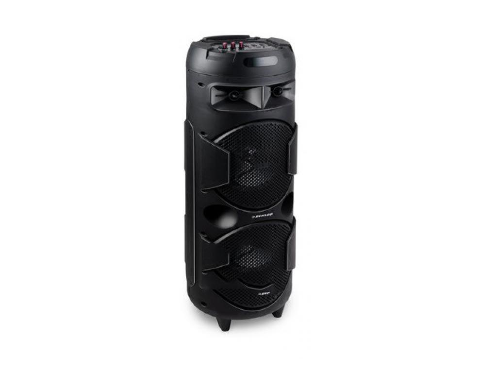 Dunlop Φορητό Ηχείο Bluetooth Karaoke, 10W, με ενσωματωμένο ράδιο και θύρα USB, 27.9x27.9x79.6 cm