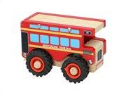 Ξύλινο Παιχνίδι οχήματα λεωφορείο ξενάγησης, 9.5x7.8x12.5 cm TourBus