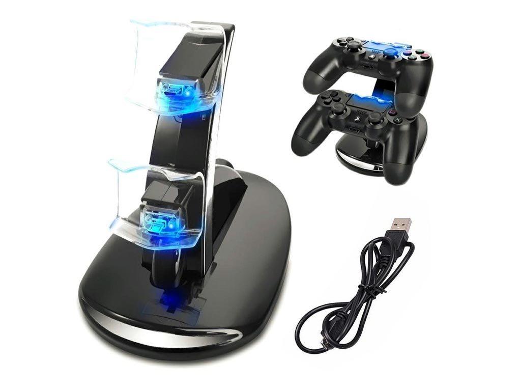 Βάση Φόρτισης Χειριστηρίων Playstation 4 με Led φωτισμό και σύνδεση USB