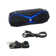 Ασύρματο Bluetooth ηχείο 8W με ραδιόφωνο σε μαύρο μπλε χρώμα, 5.5x22x8 cm, Wireless speaker