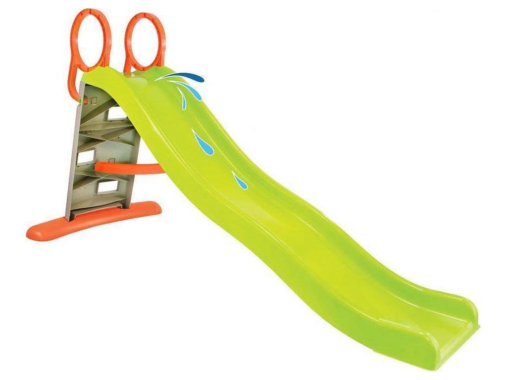 Παιδική Τσουλήθρα με σκάλες αναρρίχησης και λαβές για Εξωτερικό χώρο, 205x84x110 cm