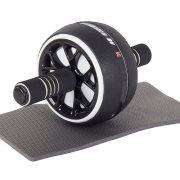 Σετ Ρόδα Εκγύμνασης Κοιλιακών, όργανο γυμναστικής με χαλάκι, Abdominal roller Μαύρο