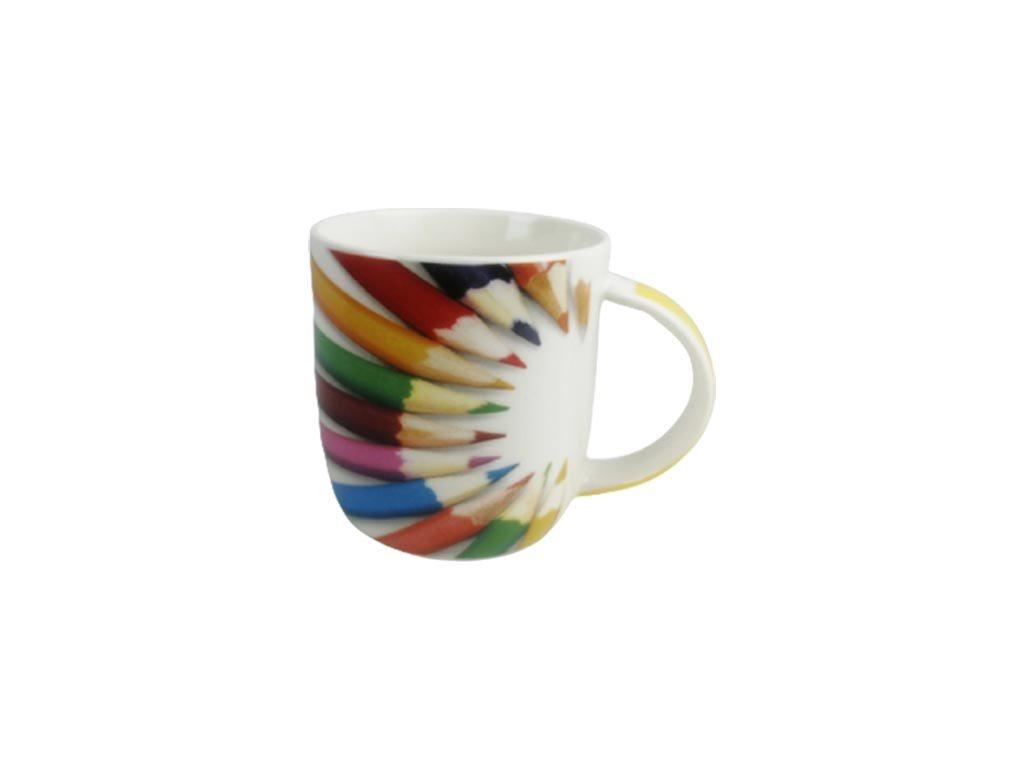 Κεραμική Κούπα με λαβή και σχέδιο ξυλομπογιές, Paint mug