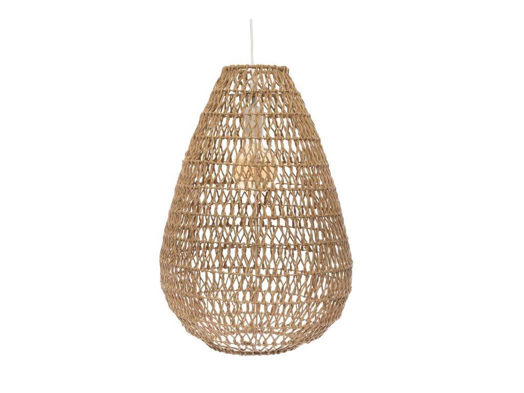 Διακοσμητικό Κρεμαστό Φωτιστικό Οροφής, Boho style σε μπεζ χρώμα, 37.5x55 cm