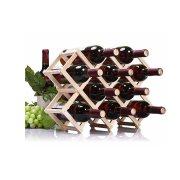 Πτυσσόμενη Ξύλινη Κάβα Κρασιών Μπουκαλοθήκη για 10 μπουκάλια, Wine bottle holder
