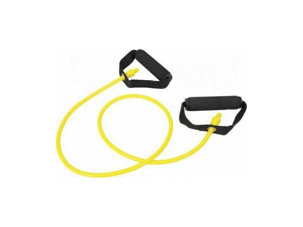 Κυλινδρικό Λάστιχο Εκγύμνασης 1.20 m σε κίτρινο χρώμα με μαύρες λαβές