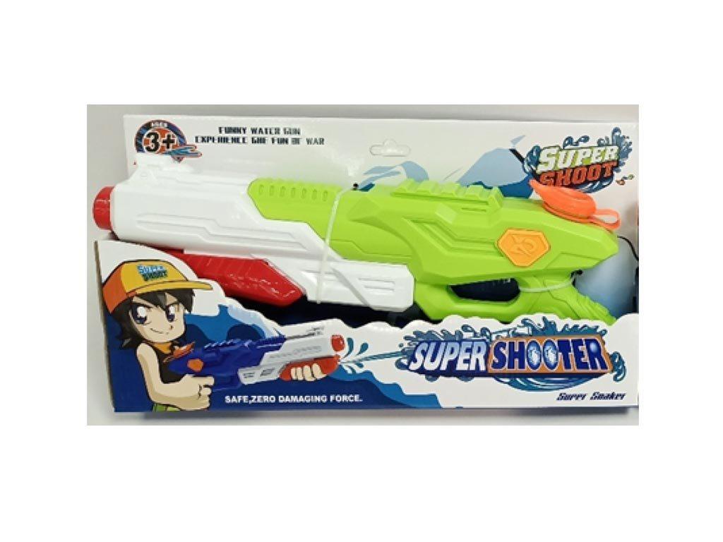 Παιδικό Παιχνίδι Νεροπίστολο 38cm σε λευκό και πράσινο χρώμα, Super shooter