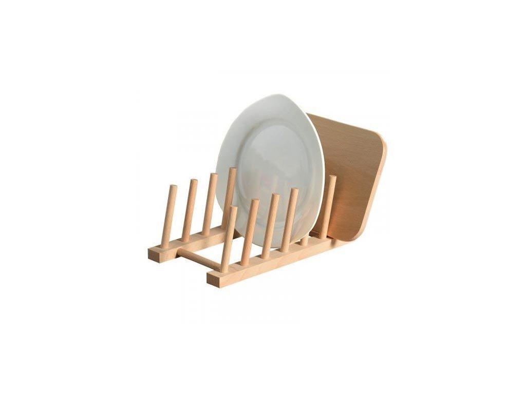 Ξύλινο Στεγνωτήριο Πιάτων Πιατοθήκη με 6 θέσεις, 28x12x12 cm, Dish drainer