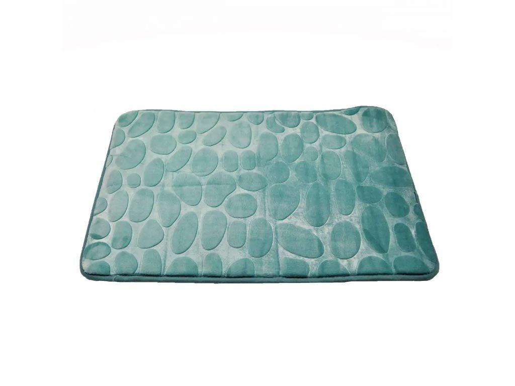 Αντιολισθητικό Χαλάκι Μπάνιου με μικροϊνες σε τιρκουάζ απόχρωση, 45x70 cm, Bath Mat