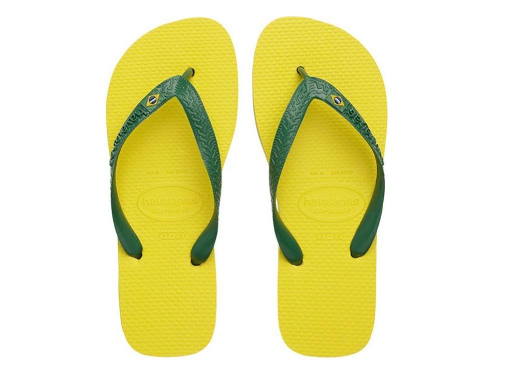 Havaianas Σαγιονάρες Unisex Brazil σε κίτρινο χρώμα 41/42