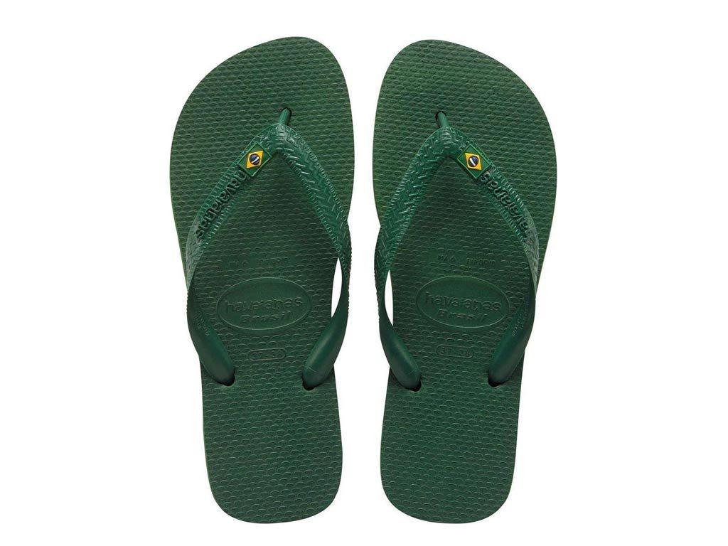 Havaianas Σαγιονάρες Unisex Brazil σε πράσινο χρώμα 43/44